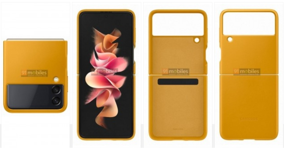 Official Samsung Galaxy Z Flip3 cases leak, show kooky design with belts and D-rings