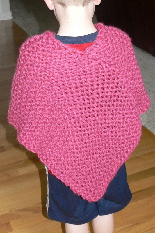 Pass Slipped Stitch Over: Child's Knit Poncho