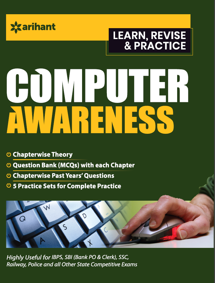 Objective computer awareness by Arihant pdf latest edition| Best Computer Awareness books for SBI, IBPS, RRB, SSC, JKSSB and other competitive exams.