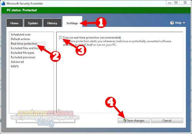 Cara Mudah Mematikan Antivirus Microsoft Security Essentials untuk Sementara