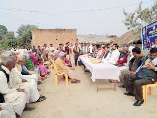 बाराबंकी : पीएल पुनिया ने बंकी व मसौली में दलित चौपाल को किया सम्बोधित