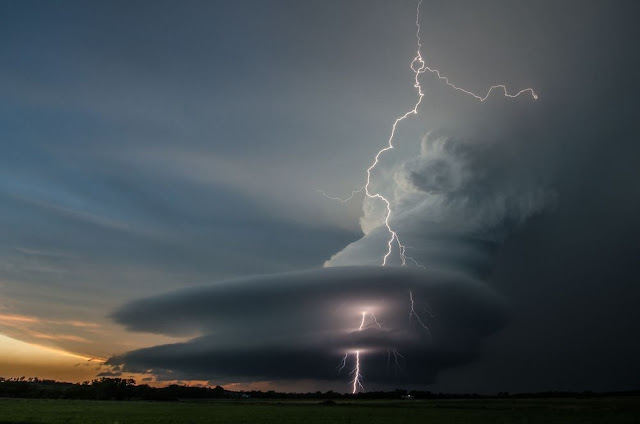 Supercell and Lightning over Nebraska