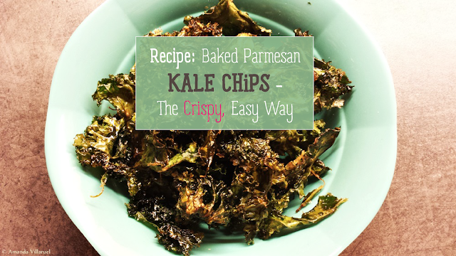 Parmesan, baked kale chips recipe
