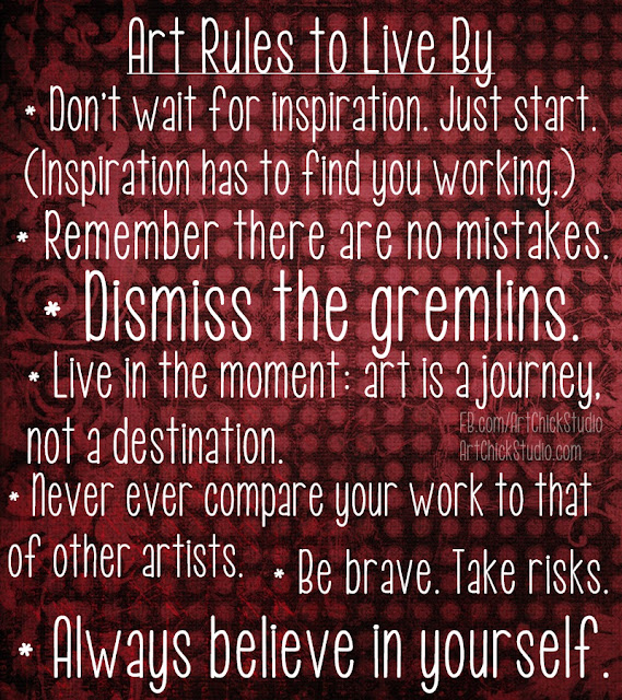 Art Rules to Live By - Art Chick Studio
