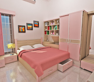 bedroom set girly malang