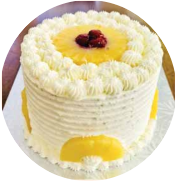 Pineapple cake for Chrismus or event of Happy Birth Day.