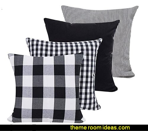 Geometric Stripe Tartan Checkered Buffalo Check Plaid Pillowcases Cushion Covers Decorative Throw Pillow Covers