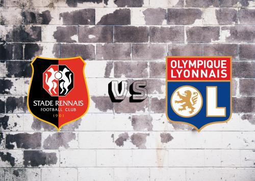 Rennes vs Olympique Lyonnais  Resumen
