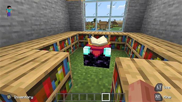 On the enchantment table you can enchant all kinds of objects