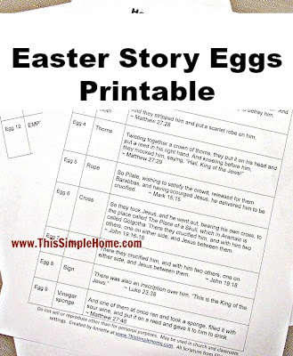 graphic regarding Resurrection Egg Story Printable called This Very simple Residence: Handmade Easter Tale Eggs Printable