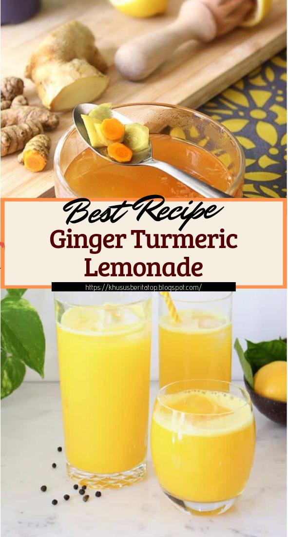 Ginger Turmeric Lemonade #healthydrink #easyrecipe #cocktail #smoothie
