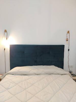 inspiración lámpara colgante pared dormitorio