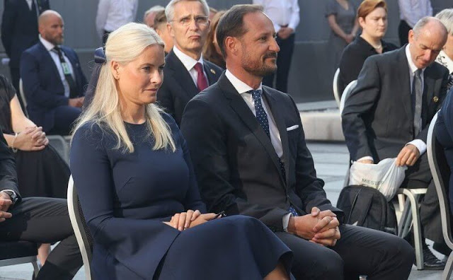Queen Sonja, Crown Prince Haakon, Crown Princess Mette-Marit, Princess Ingrid Alexandra and Prince Sverre Magnus