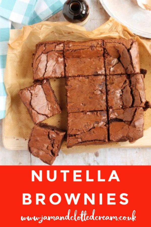 Easy Nutella Brownies #brownies #nutella