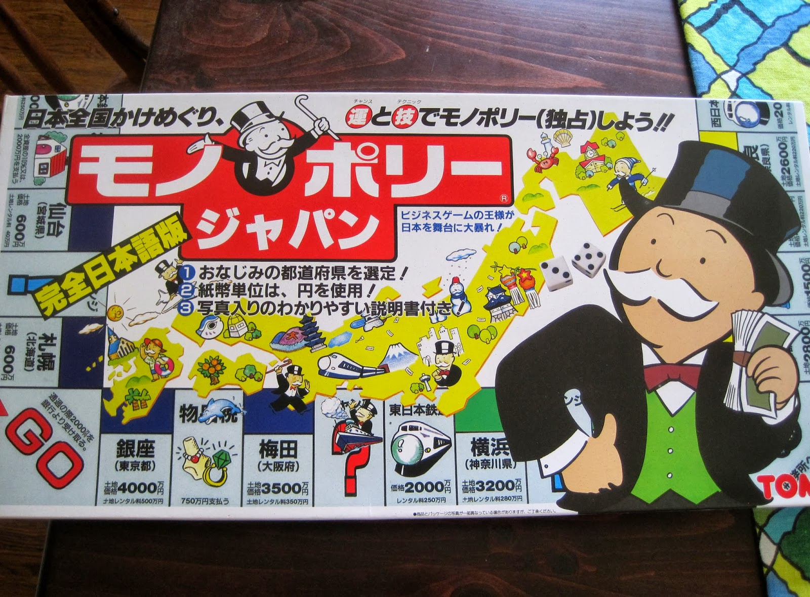 japan it s a wonderful rife japanese monopoly board game