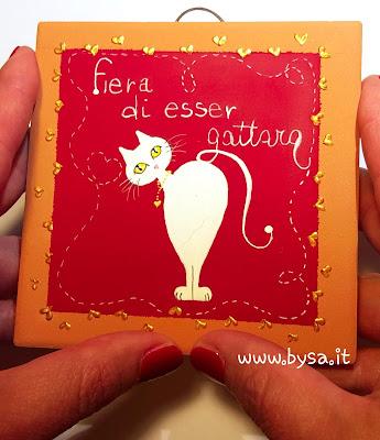 idee regalo gatti dipinti