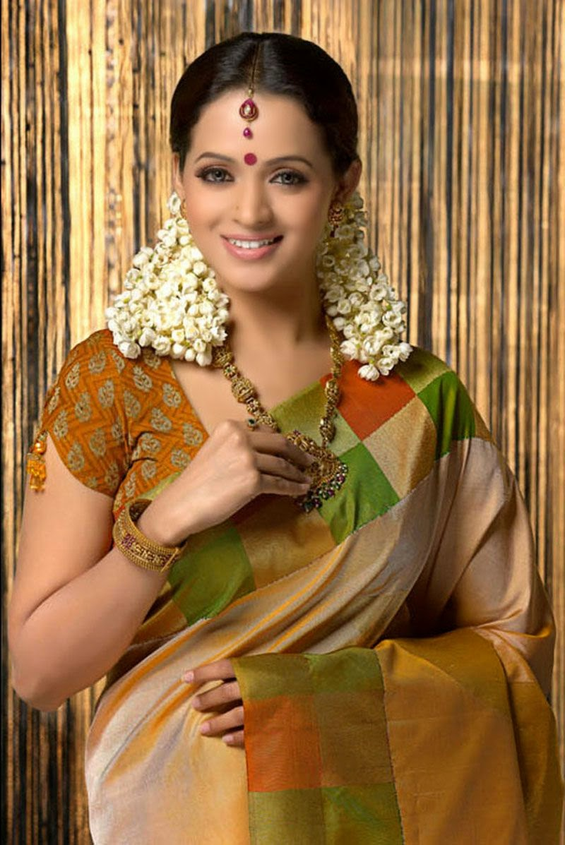 Bhavana Hd Saree Pictures  Bhavana Hot Saree Images  All -9849