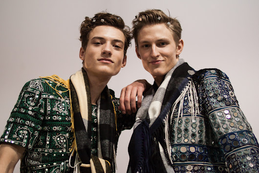 Backstage at Burberry Prorsum AW15