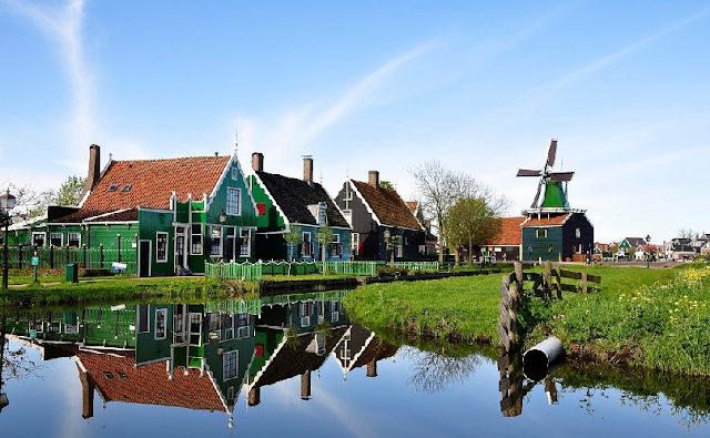 Volendam, Marken e Zaanse Schans na Holanda