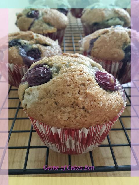 Muffins de arandanos y mascarpone
