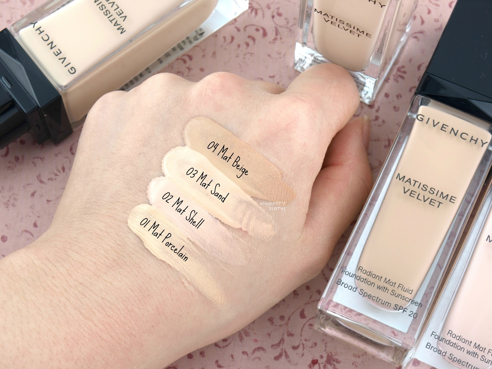 Givenchy Matissime Velvet Radiant Mat Fluid Foundation: Review and Swatches