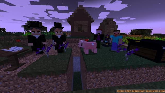 Familia de vampiros con el Mod Vampirism 1.7.10