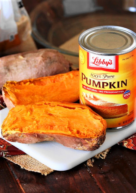 Sweet Potato Pumpkin Pie Ingredients Image