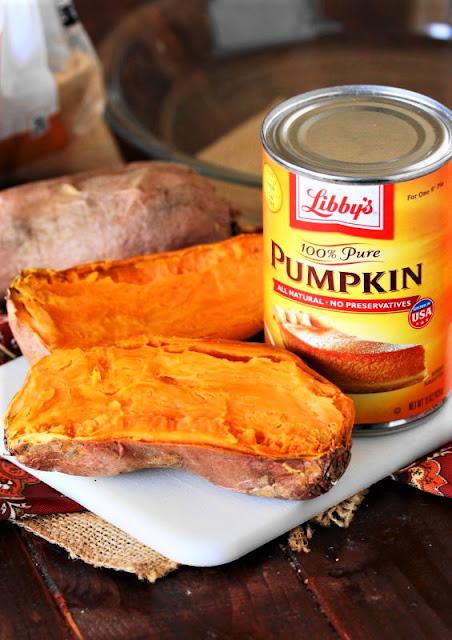 Sweet Potato Pumpkin Pie Ingredients Image