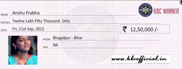Kaun Banega Crorepati 2014-2015: KBC Winners Cheques
