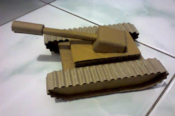 Cara Membuat Mobil Tank Dari Kardus Homemade Hemat