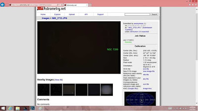 Use astrometry.net to determine image location on celestial sphere