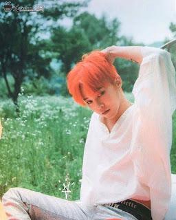Foto G-Dragon BIGBANG dengan rambut warna oren