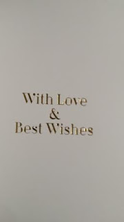 "Best Wishes floral 8"" cream square card insert"