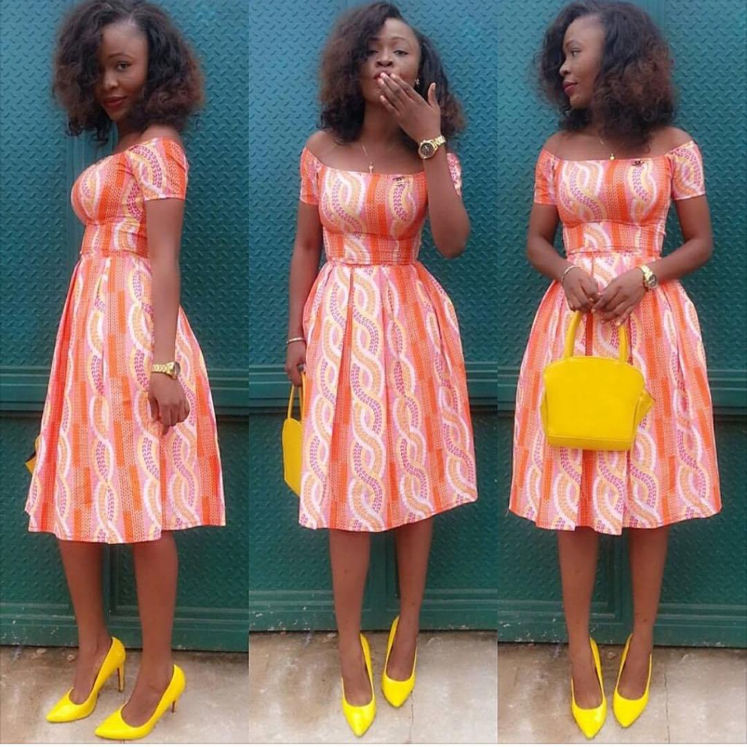 Lovely ankara short gown style dezango fashion zone for Current wedding dress styles