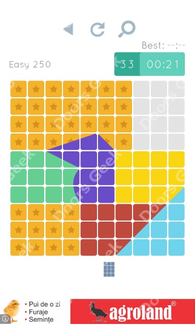 Cheats, Walkthrough for Blocks and Shapes Level 250