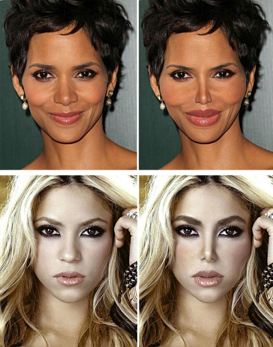 Plásticas - Halle Berry e Shakira