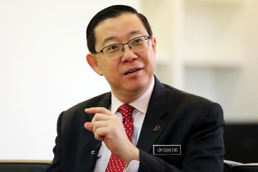 Former Malaysian finance minister Lim Guan Eng.