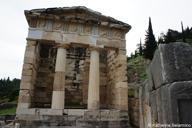 Treasury of the Athenians Delphi Central Greece Attractions