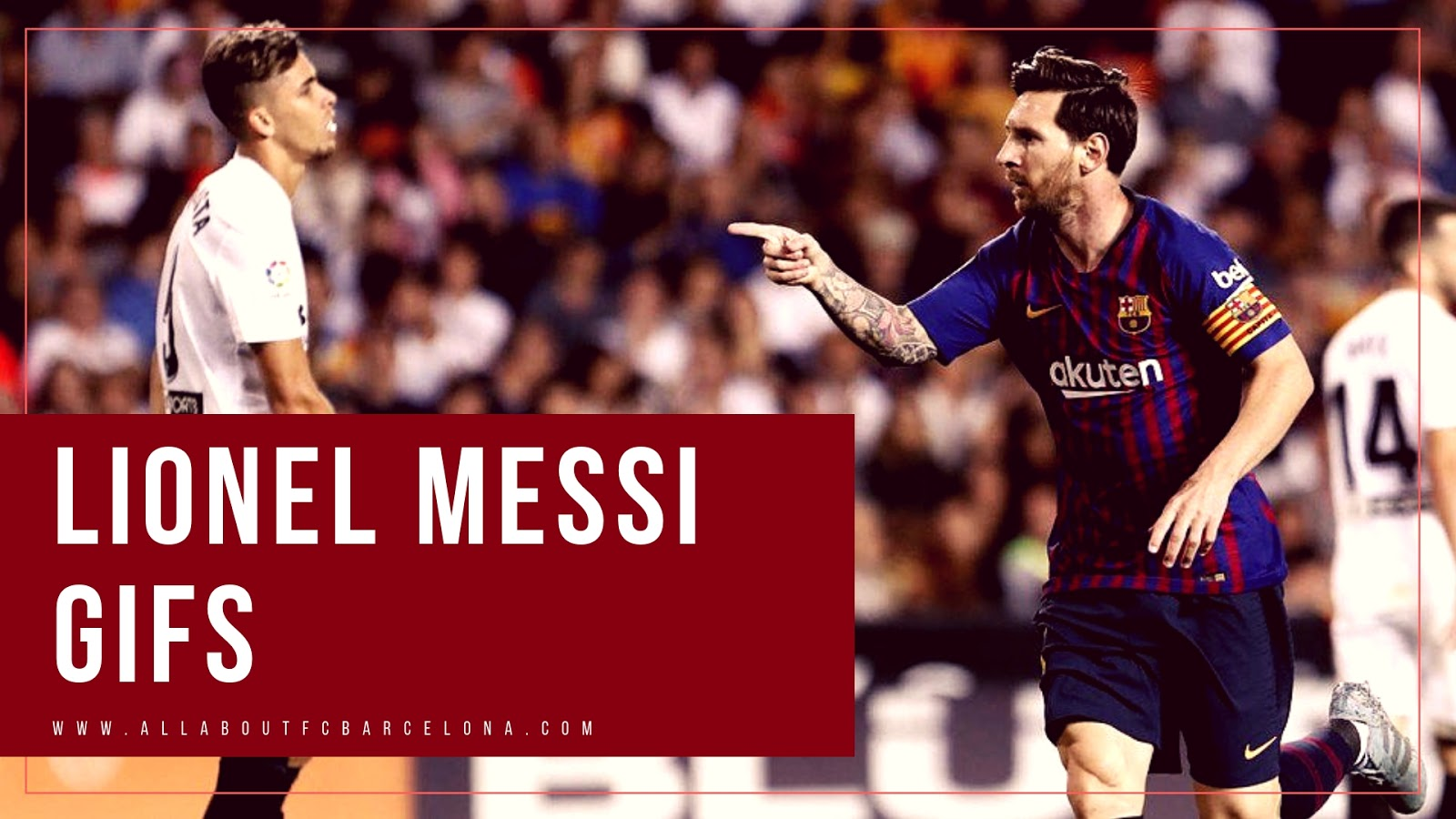 Lionel Messi Gifs against Valencia #MessiGIFS #BarcaGIFS