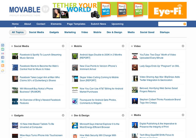 Movable wordpress theme free download.