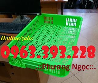 Sọt nhựa cao 10, sóng nhựa HS010, sọt trưng bày hàng hóa 61x42x10