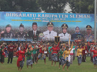 HUT Sleman ke 103 Kental Dengan Nuasa Jawa, Sultan Minta Tingkatkan Prestasi