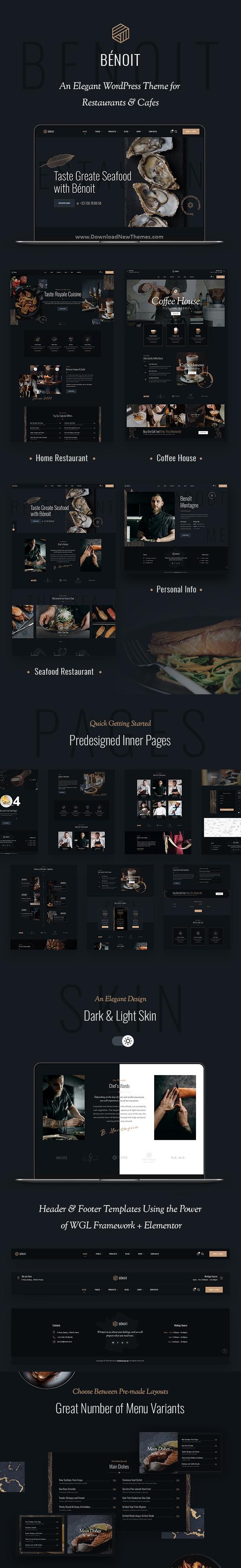 Restaurants & Cafes WordPress Theme