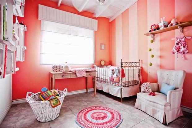 Cuartos color salm n para beb s dormitorios colores y - Color salmon en paredes ...