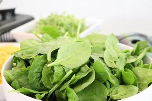 Jaundice diet, spinach