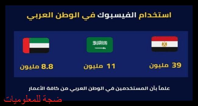 استخدام الفيسبوك في الوطن العربي