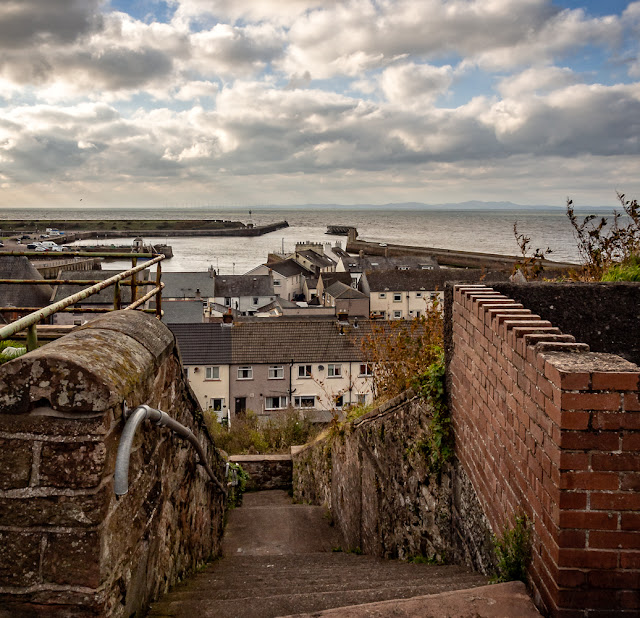 Photo of the view from the top of Market Steps at Maryport