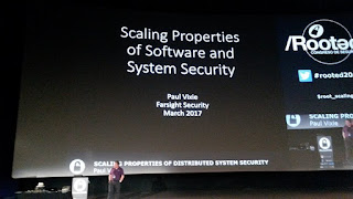 Rooted2017 - Paul Vixie y Scaling Properties of Software and System Security