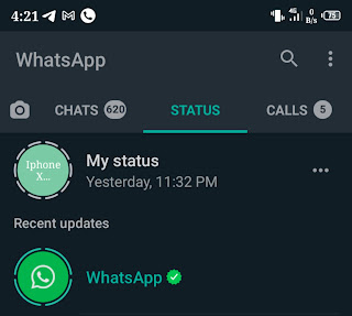 Whatsapp now live on status