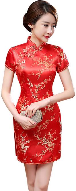 Mini Cheongsam Qipao Dresses